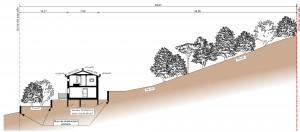 plan en coupe villa ossature bois