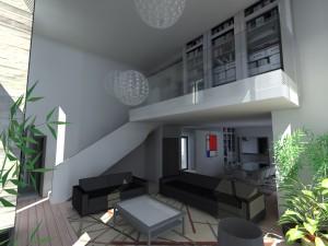 plan intérieur architecture